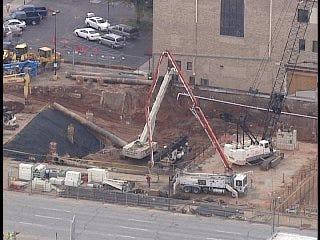 WEB EXTRA: SkyNews6 Flys Over Tulsa's First Presbyterian Church Construction