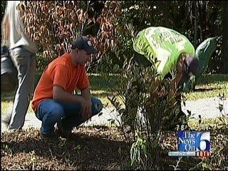 Volunteers Building Rain Garden In Broken Arrow