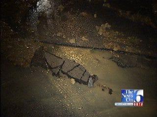 WEB EXTRA: Water Main Break Buckles Part Of Tulsa Street