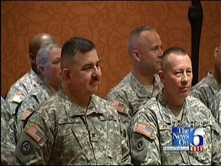 Green Country Soldiers Say Goodbye To Family, Friends
