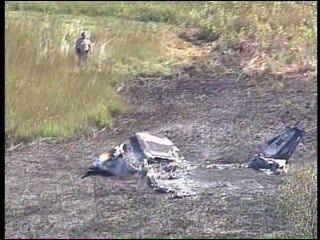 WEB EXTRA: SKYNEWS 6 Video Of Creek County Airplane Crash