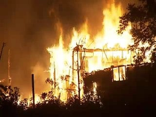 WEB EXTRA: Video Of Abandoned Rural Sperry House Fire Early Tuesday