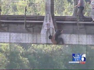 WEB EXTRA: Watch Tulsa Rape Suspect As He Falls Into The Verdigris River