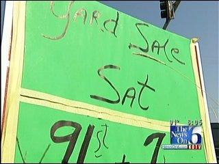 Residents Volunteer To Remove Illegal Signs In Broken Arrow