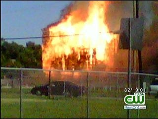 Witnesses Watch Helplessly As Fire Consumes Admiral Twin Drive-In