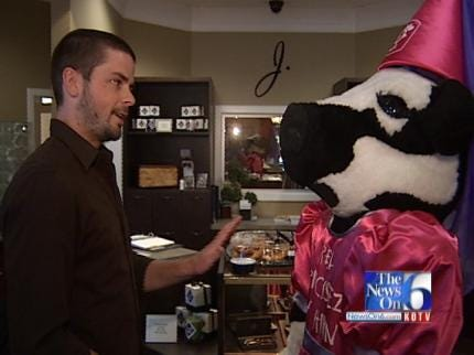 WEB EXTRA: Chick-Fil-A Cow Proposes To Jewelry Store Employee