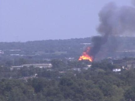 Admiral Twin Fire From News On 6 SkyCam Network
