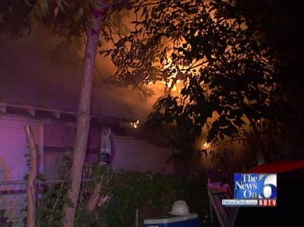 WEB EXTRA: House Fire On East 5th Street In Tulsa