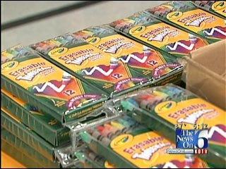 Non-Profit Group Donates Supplies To Tulsa School