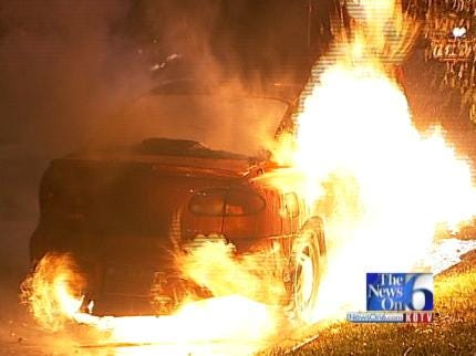 WEB EXTRA: Scenes From South Tulsa Car Fire