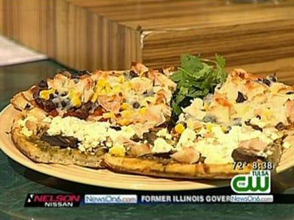Chicken Taco Pizza And Chicken Pesto Pizza