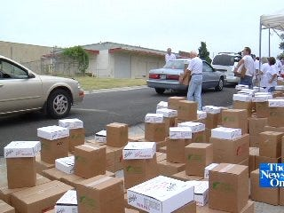 Feed the Children Gives Food to Struggling Middle-Class Families