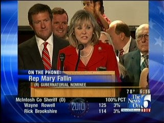 Congresswoman And Republican Nominee Mary Fallin Talks About Her Win