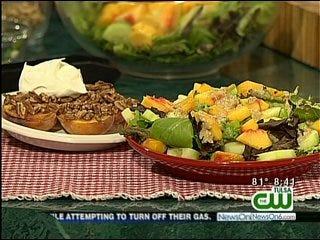 Summer Salad with Peach-Walnut Dressing