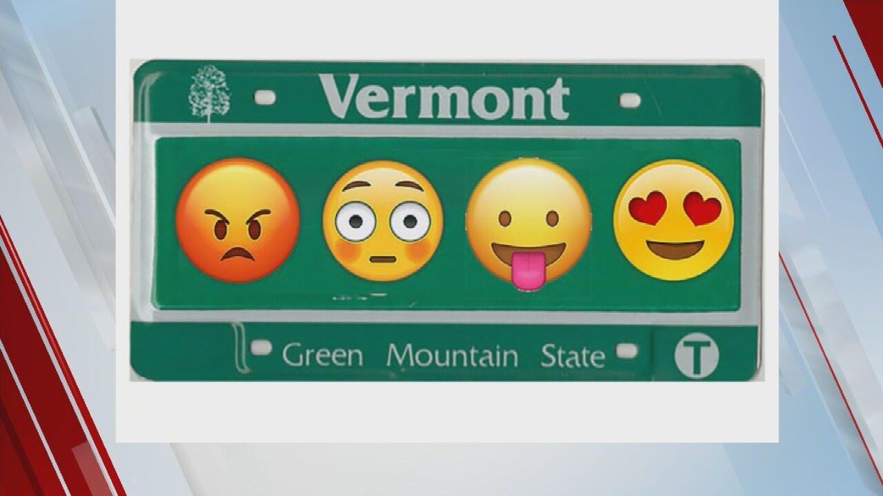 WATCH: New Vermont Bill Would Allow Emoji License Plates