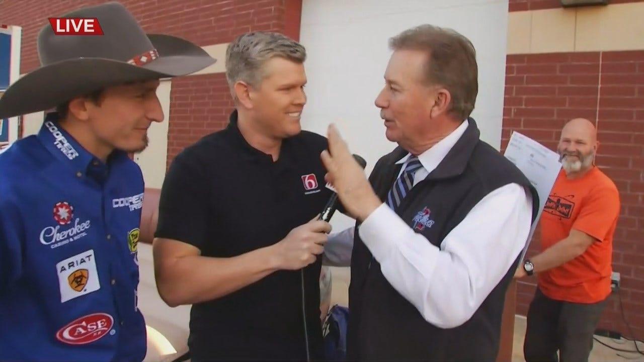 WATCH: Ryan Dirteater Coaches Brian Dorman On Mechanical Bull