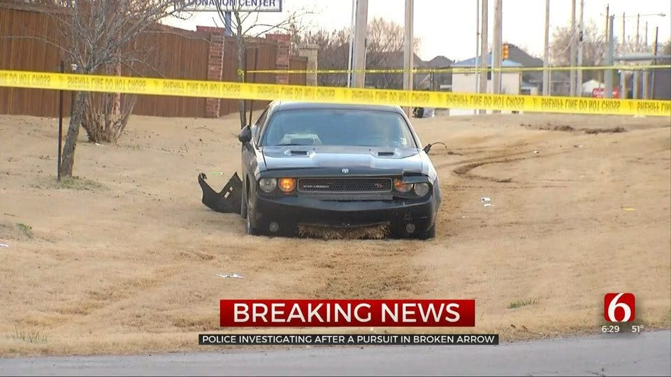 Police Chase Ends In Broken Arrow After Suspect Dies In Apparent Suicide
