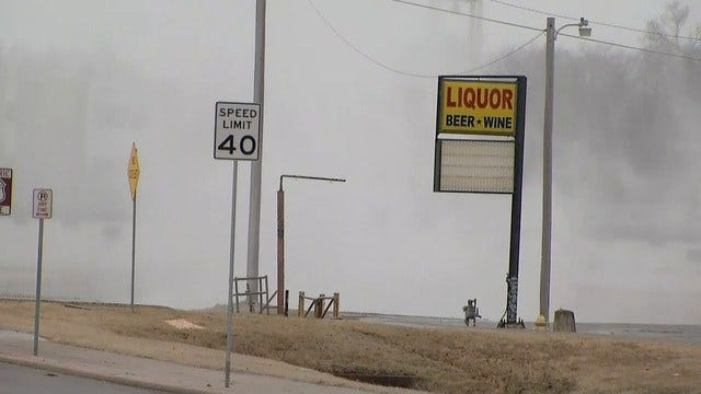 UPDATE: Tulsa Gas Rupture Closes 11th & Mingo; Gas Shut Off