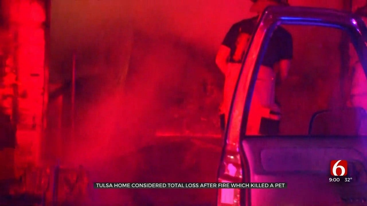 Firefighters: Pet Dies In Tulsa House Fire, No Others Hurt