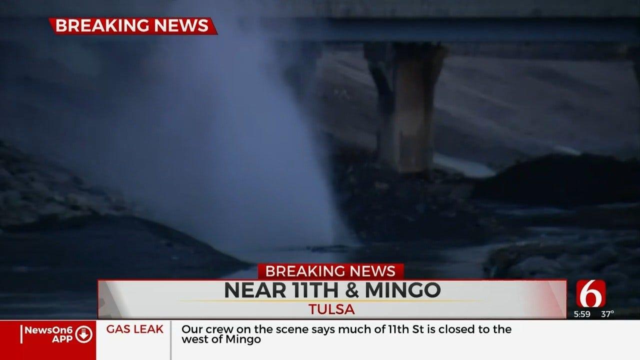 Tulsa Gas Rupture Closes 11th & Mingo Friday