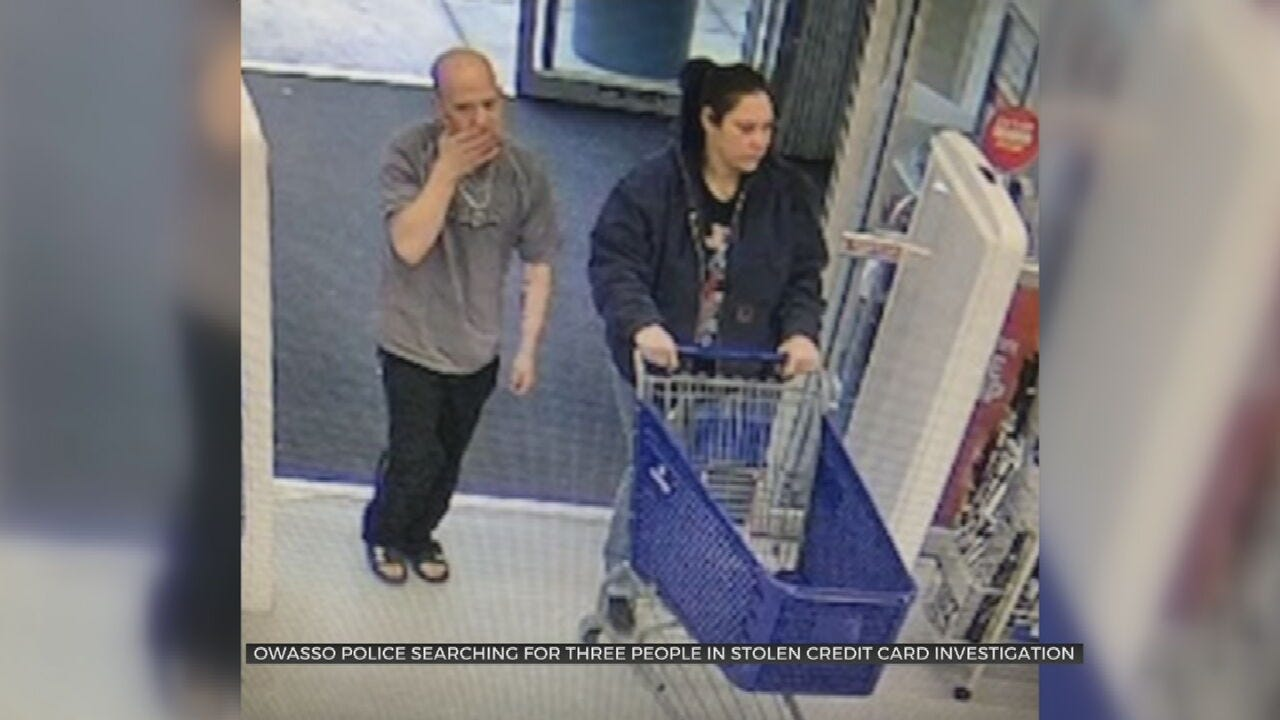 Owasso Police Search For Stolen Credit Card Suspects