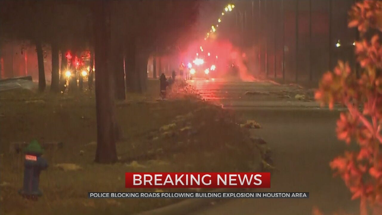 Houston Police Block Streets After Reported Building Explosion