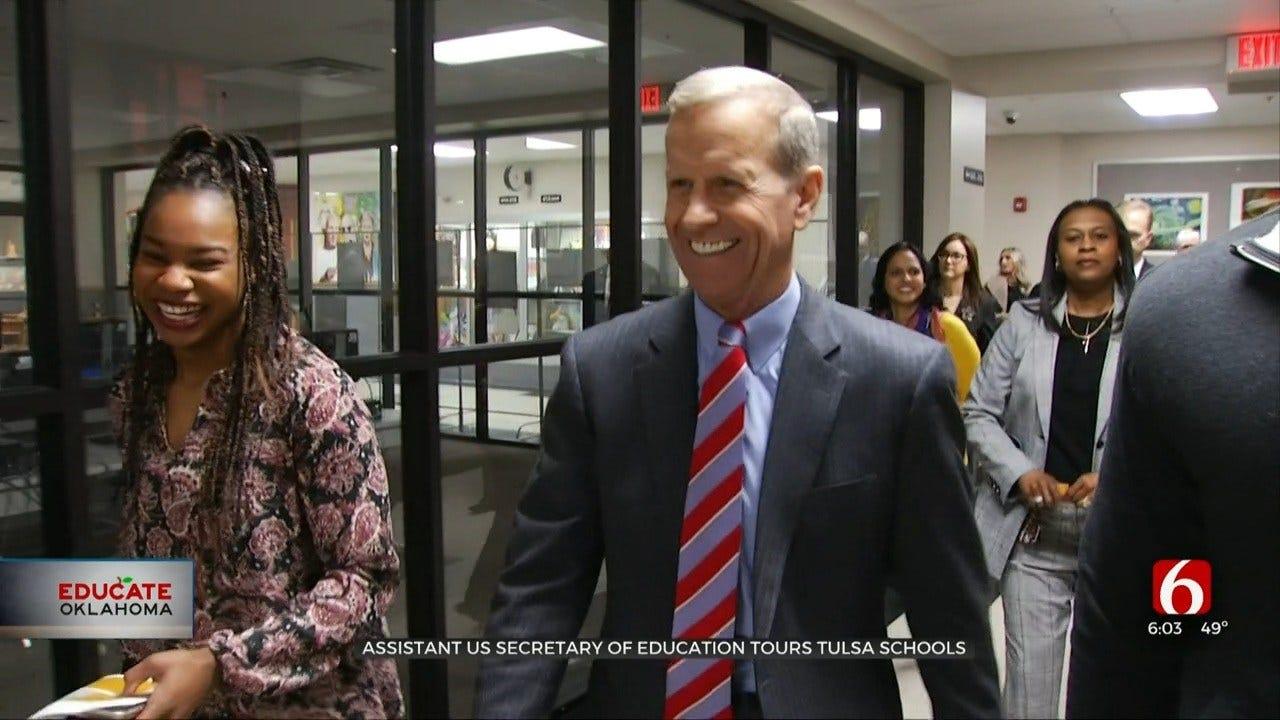US Assistant Secretary Of Education Visits Tulsa Schools