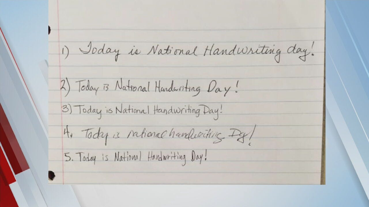 WATCH: 6 In The Morning Team Celebrates National Handwriting Day