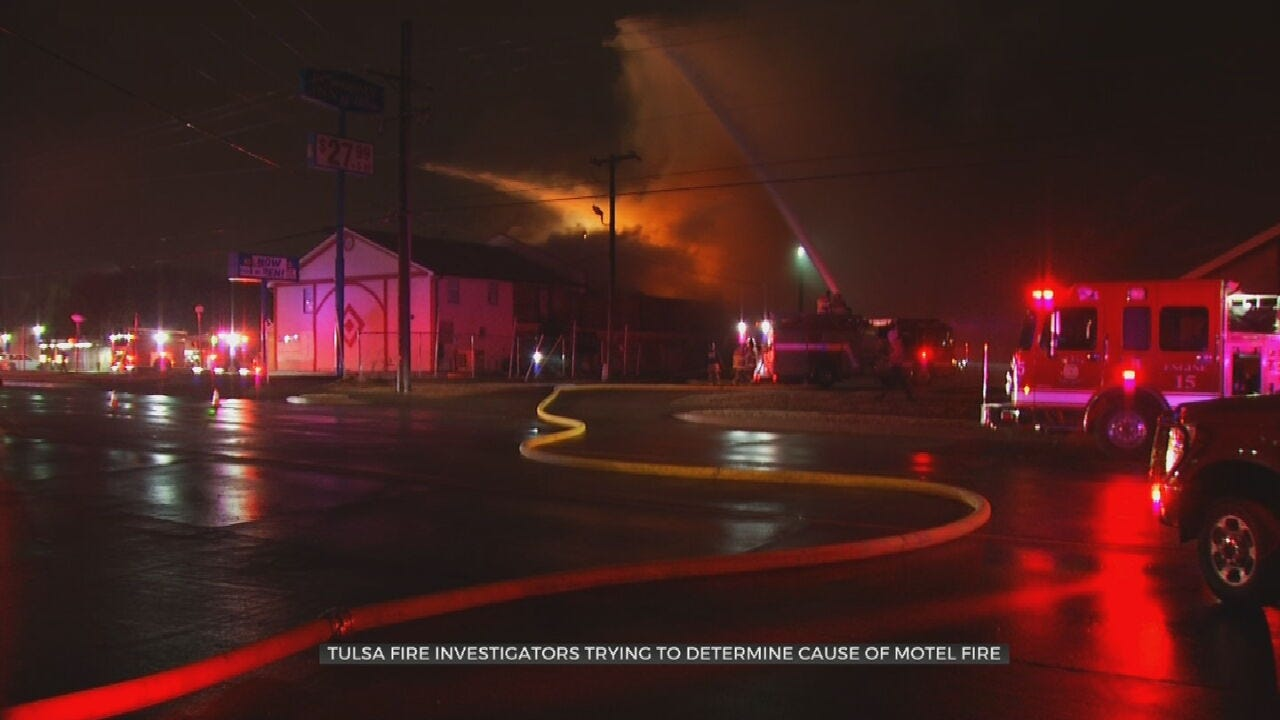 Investigation Continues After Abandoned Tulsa Motel Fire