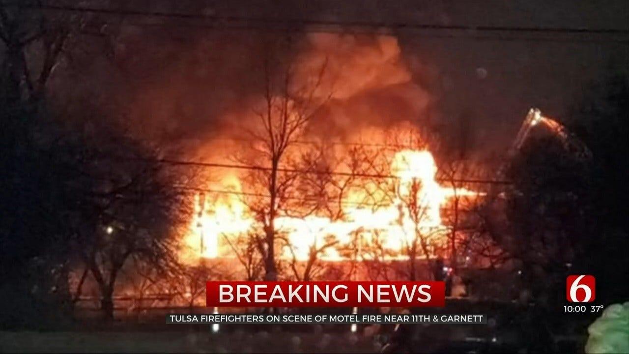 Emergency Crews Respond To Tulsa Building Fire