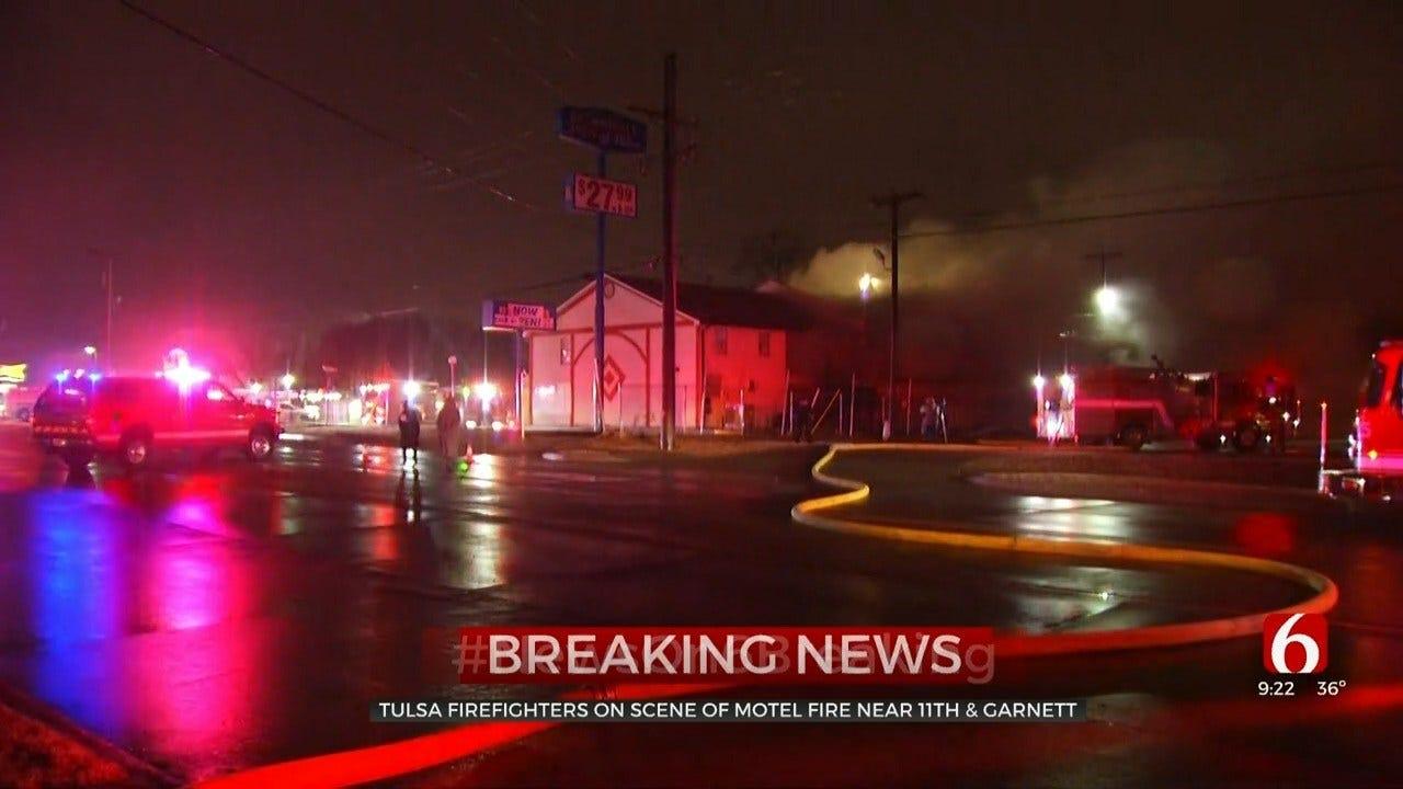 Emergency Crews Respond To Tulsa Fire