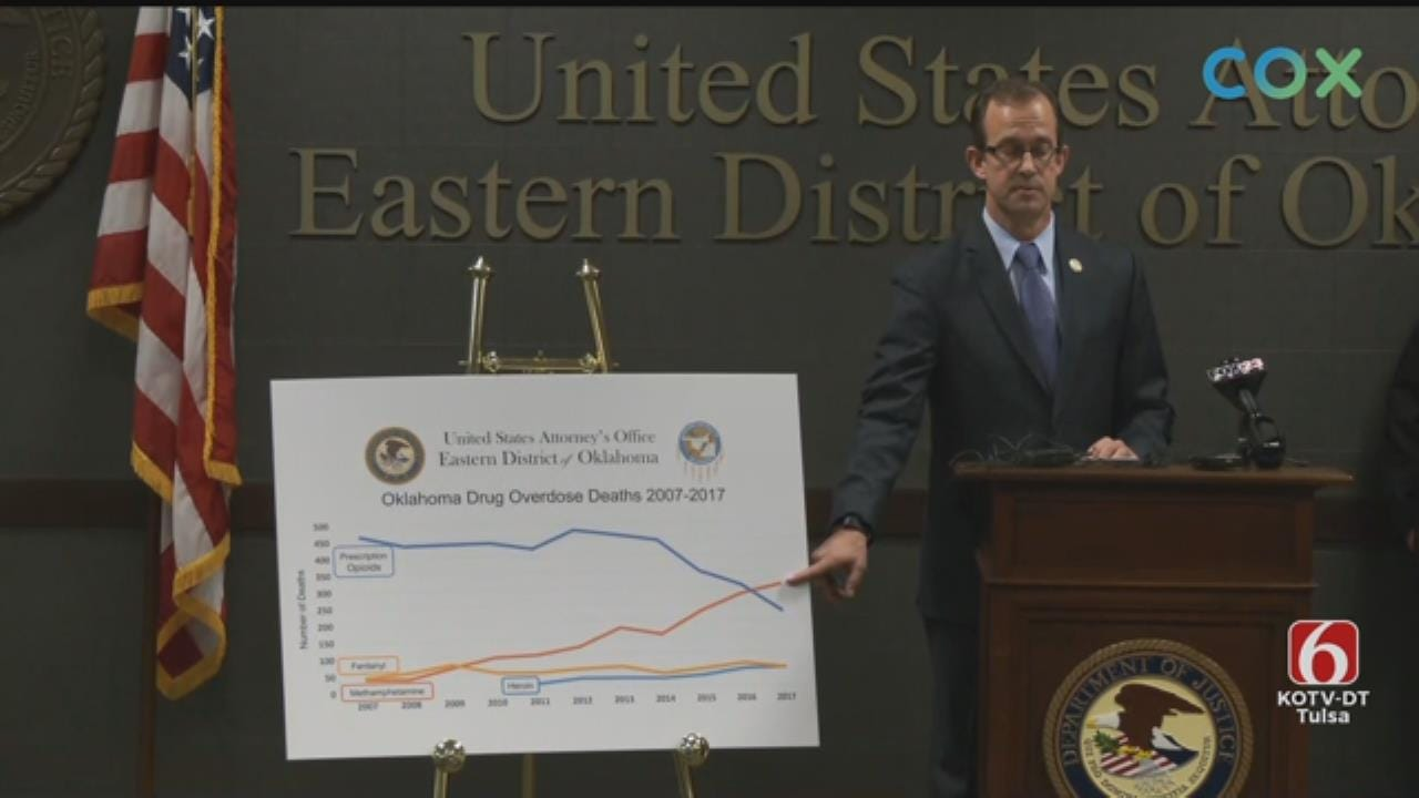 WATCH: Drug Conspiracy Ring Arrests Announced In Haskell, Pittsburg Counties