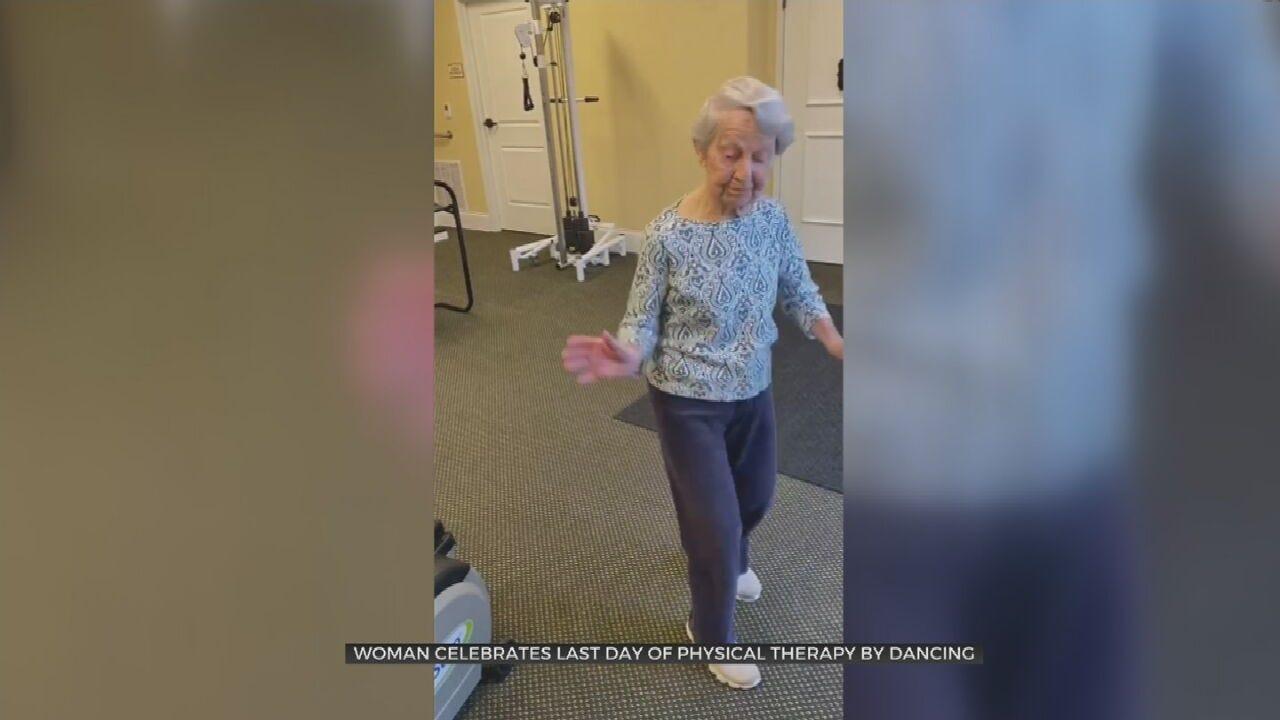 WATCH: Woman Celebrates, Dances The Jitterbug