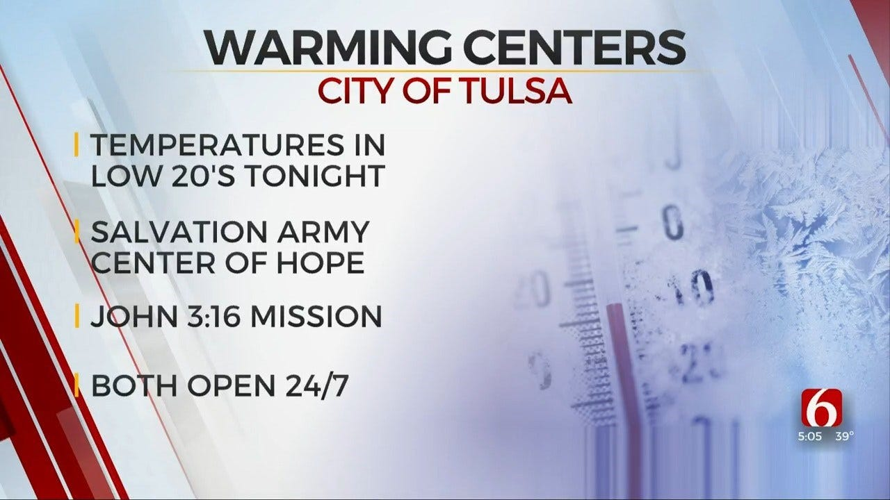 City Of Tulsa Reminds Citizens Of Warming Stations As Temps Drop