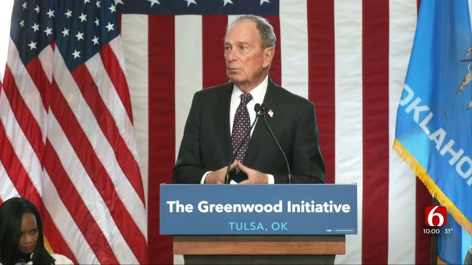 Mike Bloomberg Unveils Economic Mobility Plan In Tulsa