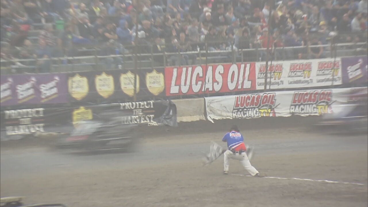 WATCH: Chili Bowl Flagger Lives Out His Dream