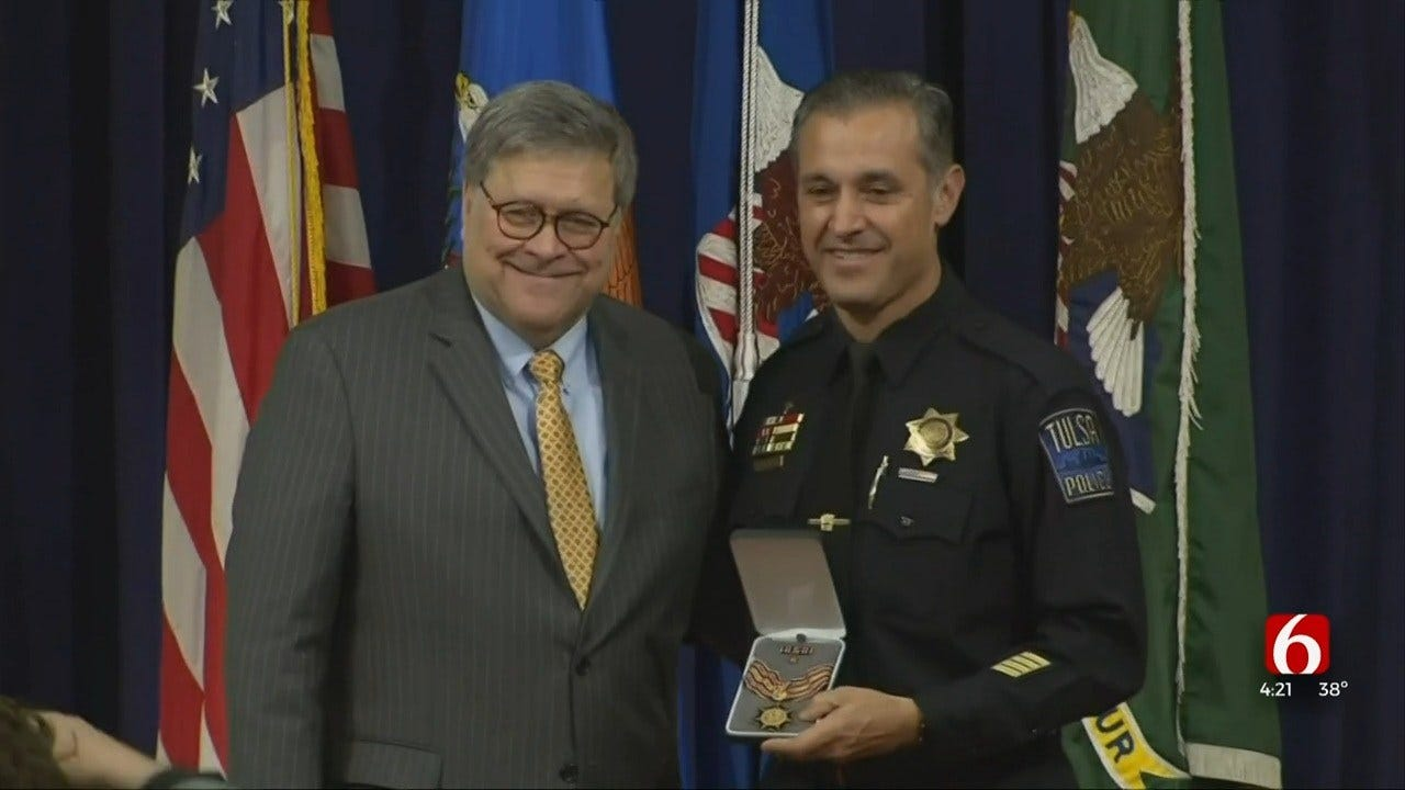 Tulsa Police Officer Given Award For Work Within Hispanic Community