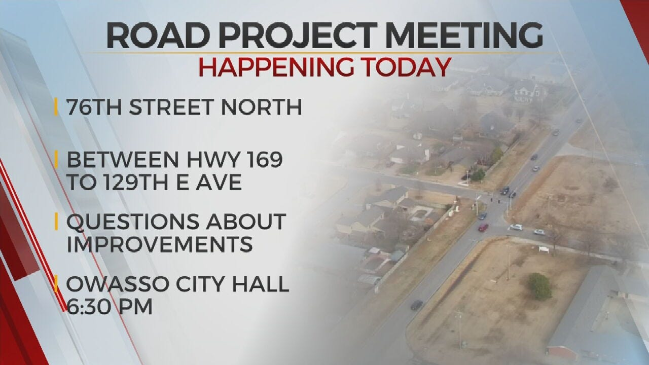 City Of Owasso To Hold Meeting Concerning Road Project
