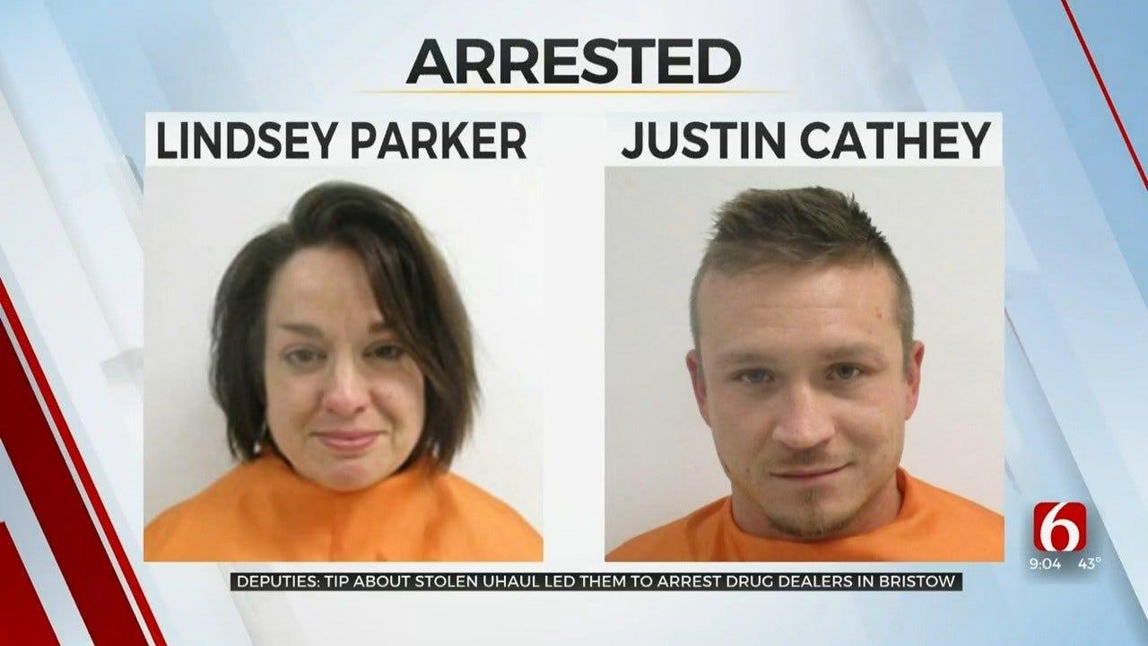 Creek Co. Deputies: Couple Steals U-Haul, Sells Drugs Near Park