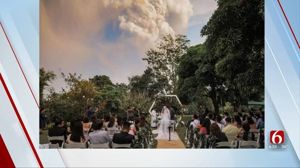 Something To Talk About: Couple Ties The Knot During Volcanic Eruption