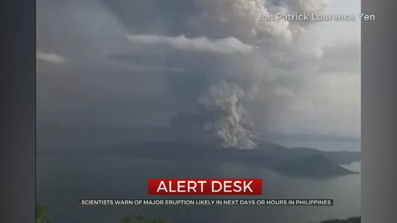 Thousands Evacuated After Volcano Spews Ash In Philippines