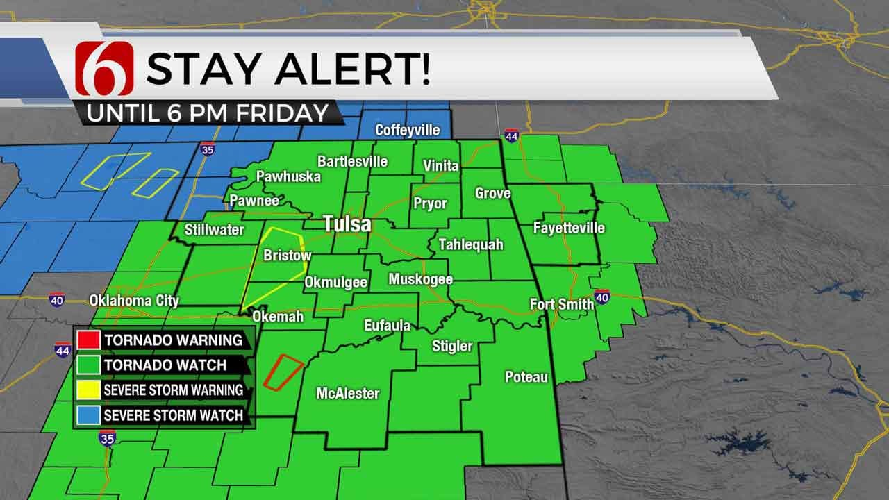 UPDATE: Tornado Watch Issued For Most Of Eastern Oklahoma