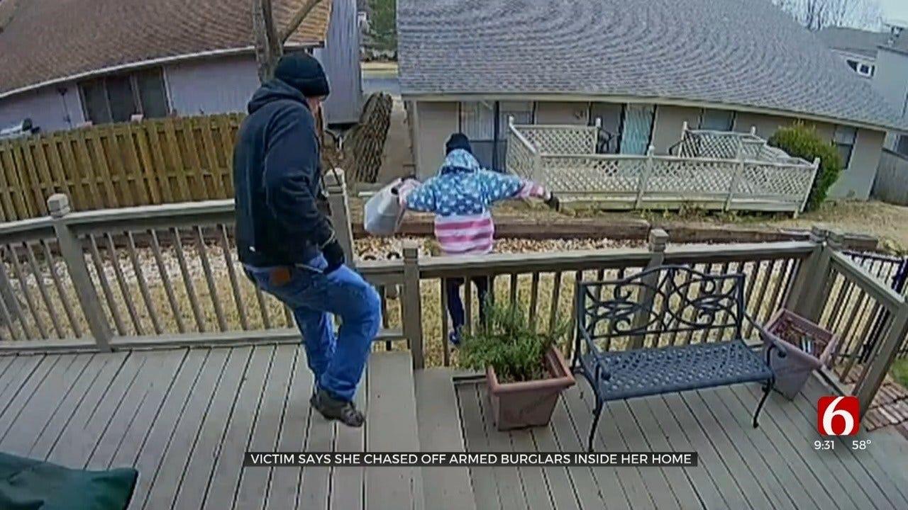 Tulsa Police: 2 Men Hold Woman At Gunpoint, Crash After Chase