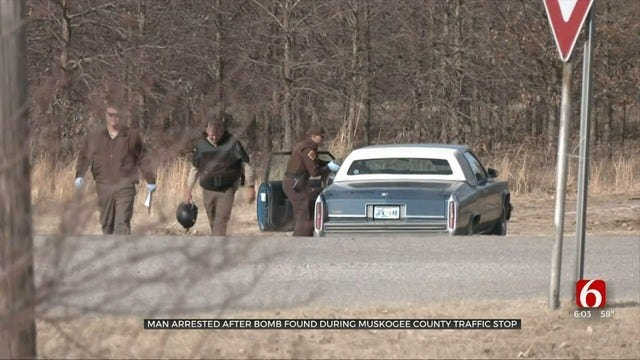 Muskogee County Deputy Finds Explosive Device During Traffic Stop