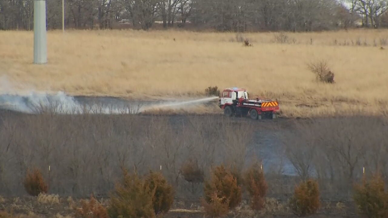 Fire Threatens Ranch In Pawnee County