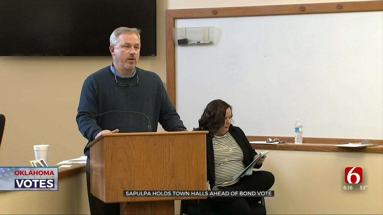 Sapulpa City Leaders Hold Town Hall For Upcoming Bond Vote