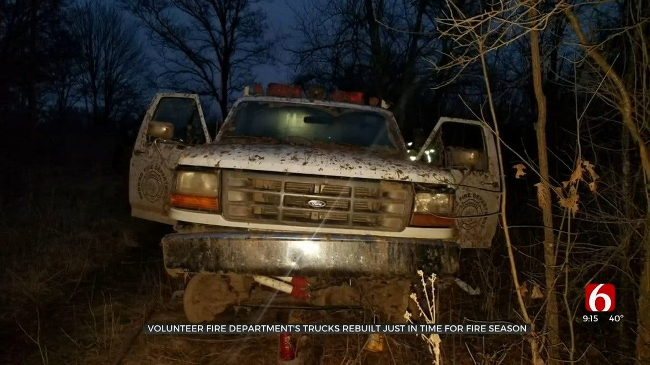 Oklahoma Community Helps Fire Department After Trucks Stolen, Recovered In Bad Condition