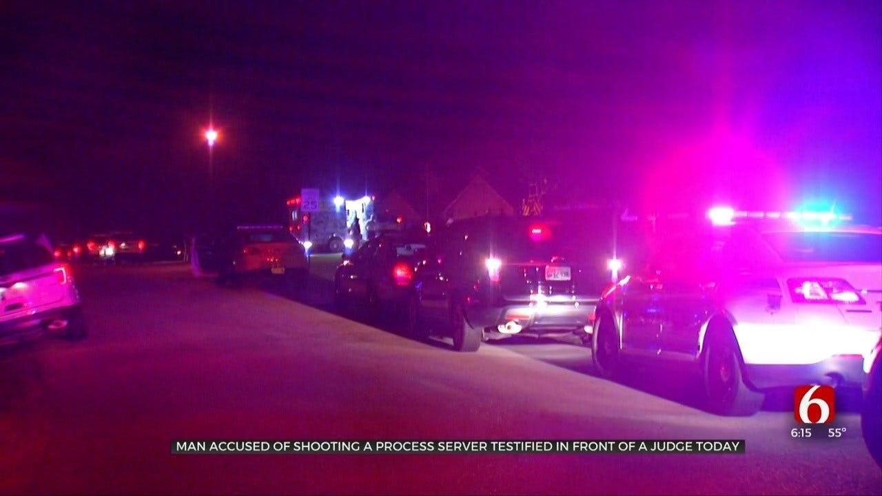 Tulsa Man Accused Of Shooting Process Server Testifies