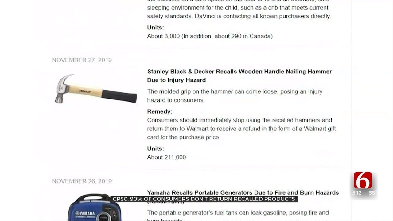 Consumer Safety Website Lists Product Recalls