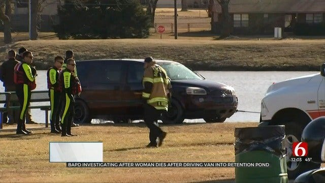 Woman Pulled From Broken Arrow Detention Pond Dies